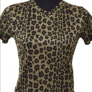 Fendi V neck Leopard Pattern tops AK36291 size S